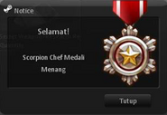 Scorpion chef obtain