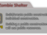New Zombie Shelter