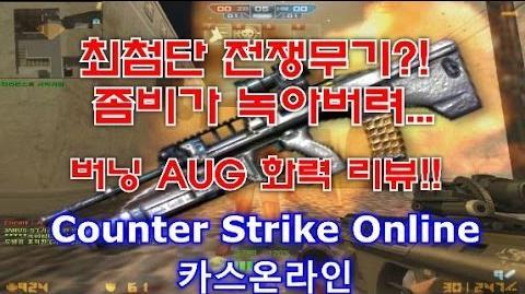CSO)카스온라인 좀비가 녹아??버닝 AUG 빙고 최상위급 무기 화력리뷰!!