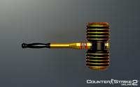 Golden battle toy hammer