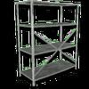 Hide shelves metal