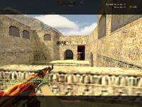 AK-47 Red Lightning Painting