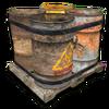 Hide pallet barrels