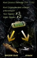 Crossbow wa2000gold turke poster