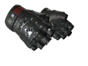 Studded bloodhound gloves bloodhound black silver light large