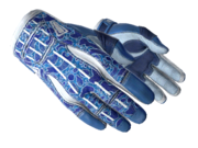 Sporty gloves sporty poison frog blue white light large