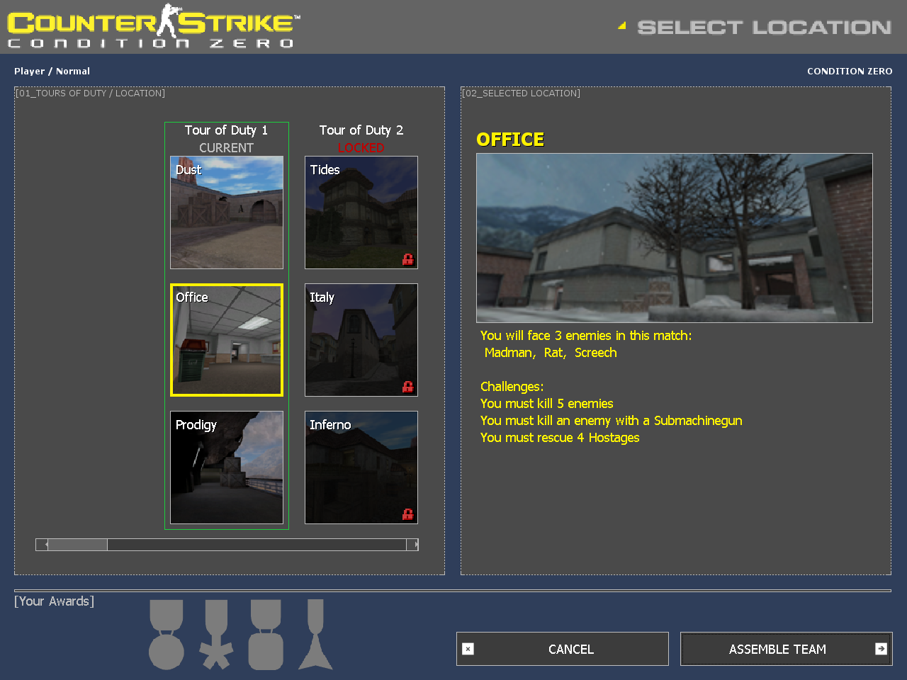Counter strike condition zero counter strike wiki fandom tour of duty map selection menu gumiabroncs Images