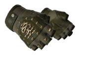 Studded hydra gloves bloodhound hydra green leather mesh brass light large