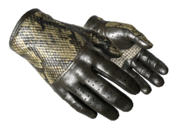 Slick gloves slick snakeskin yellow light large