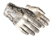 Slick gloves slick snakeskin white light large