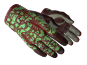Sporty gloves sporty poison frog red green light large