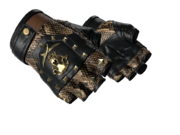 Studded bloodhound gloves bloodhound snakeskin brass light large