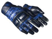 Motorcycle gloves motorcycle trigrid blue light large