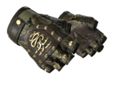 Studded hydra gloves bloodhound hydra snakeskin brass light large