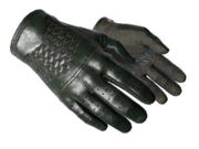 Slick gloves slick stitched green grey light large