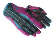 Sporty gloves sporty blue pink light large
