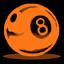 8ball1 orange
