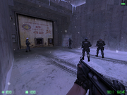 Cz silo020000 The Operatives stand in front of a inoperatible door