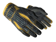 Sporty gloves sporty black webbing yellow light large