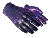 Slick gloves slick plaid purple light large