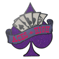 Collectible pin aces high pw large