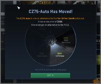 Csgo Notice CZ75auto