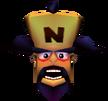 Dr. Neo Cortex Crash Bandicoot 3 Warped Head in Vortex