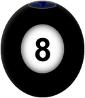 Eight Ball with Cylindrical Reservoir (GUOS65002)