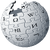 Wikipedia logo silver