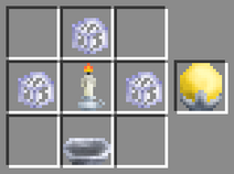 Candle-rhekkolamp