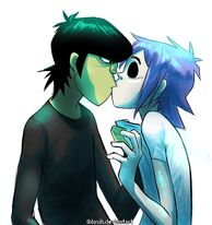 Crystal's adoptive parents 2D and Murdoc