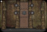 Cave door wall