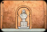 Chapel statue wall