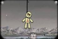 Voodoo dolls hanged