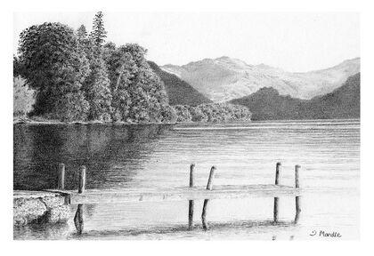 A Drawing of a Lake
