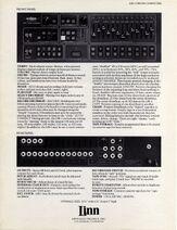 Linn LM-1 Drum Computer Brochure Page 2 300dpi