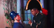 Darryl Maximilian Robinson as Major-General Stanley and Fabio Di Nino as The Sergeant of Police in The Pirates of Penzance