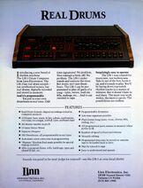 Linn LM-1 Drum Computer Brochure Page 1 300dpi