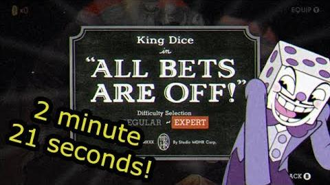 Cuphead Glitchless Speedrun- All Bets Are Off! (2-21)