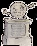 Statue plate