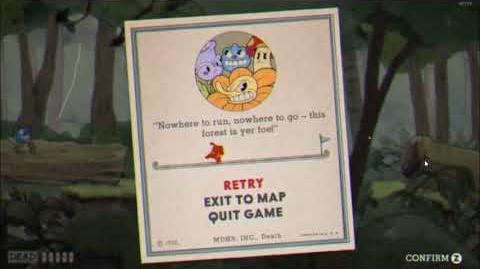 """Cuphead - """"Forest Follies"""" Game Over Screen Version"""