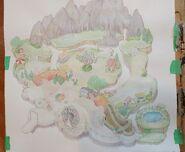 Cuphead Watercolor process 1