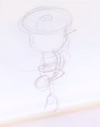 E3 Coliseum Cuphead Workshop Ms. Chalice Sketch 29