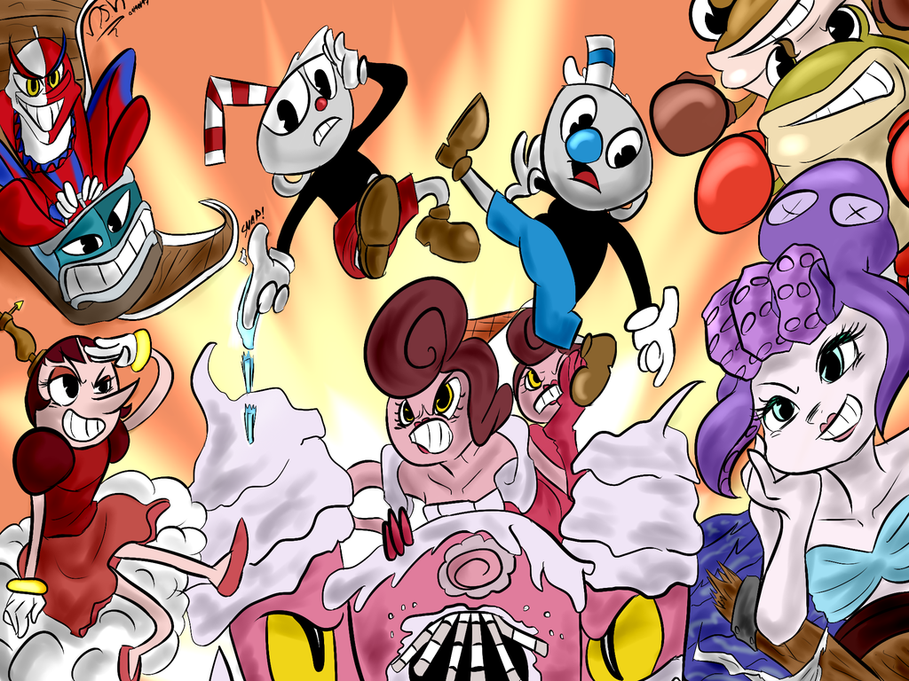 Image Cuphead Rush Of Bosses By Msmoura Dbp7fjv Png