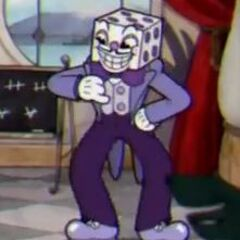 King Dice blocking the way in the Die House.