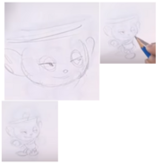 E3 Coliseum Cuphead Workshop Ms. Chalice Sketch 12