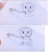 E3 Coliseum Cuphead Workshop Ms. Chalice Sketch 16