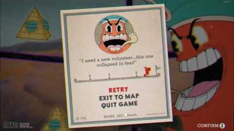 """Cuphead - """"Pyramid Peril"""" Game Over Screen Version"""