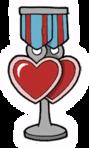 Twin Heart Charm