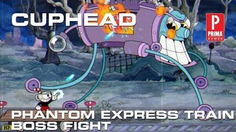 Cuphead - Phantom Express Train Boss Fight (Perfect Run)